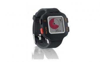 Armband-Uhr Time Timer Watch Junior in orangegrau